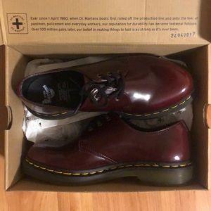 NEW Vegan Cherry Dr. Martens Oxford 1461 Shoes